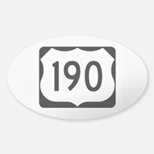 US Route 190 Decal