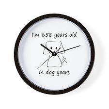 94 dog years 6 - 2 Wall Clock