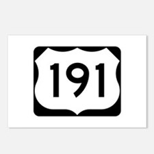 US Route 191 Postcards (Package of 8)