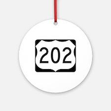 US Route 202 Ornament (Round)