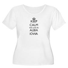Keep calm we live in Albia Iowa Plus Size T-Shirt