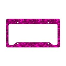 Pink Camo License Plate Holder