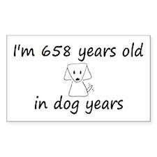 94 dog years 6 - 3 Decal
