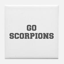 SCORPIONS-Fre gray Tile Coaster