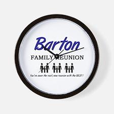 Barton Family Reunion Wall Clock