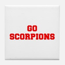 SCORPIONS-Fre red Tile Coaster