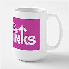 Two Tone Pinks Large Mug