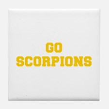 Scorpions-Fre yellow gold Tile Coaster