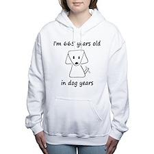 95 dog years 6 Women's Hooded Sweatshirt