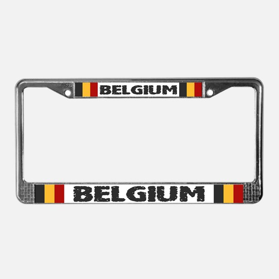 """Belgium Flag"" License Plate Frame"