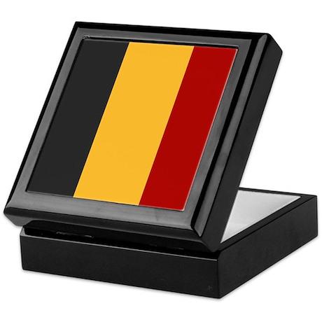 """Belgium Flag"" Keepsake Box"