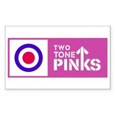 Two Tone Pinks Rectangle Decal