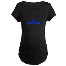 Seahawks-Fre blue Maternity T-Shirt