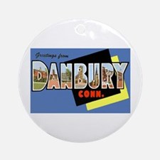 Danbury Connecticut Greetings Ornament (Round)