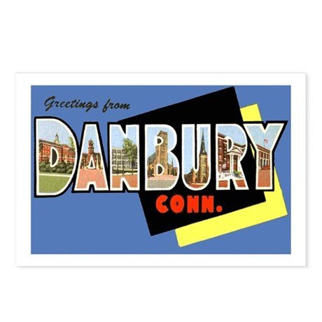 Danbury Connecticut Greetings Postcards (Package o