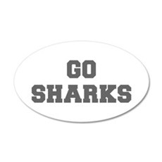 SHARKS-Fre gray Wall Decal