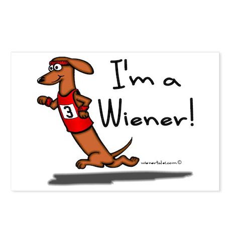 Red Wiener Winner Postcards (Package of 8)