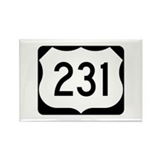 US Route 231 Rectangle Magnet