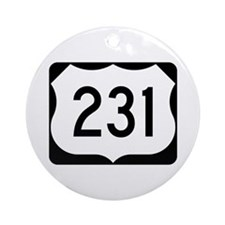 US Route 231 Ornament (Round)
