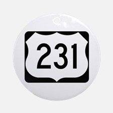 US Route 231 Ornament (Round)