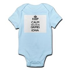Keep calm we live in Grimes Iowa Body Suit