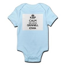 Keep calm we live in Grinnell Iowa Body Suit