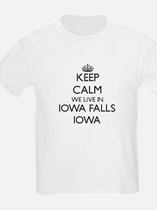 Keep calm we live in Iowa Falls Iowa T-Shirt