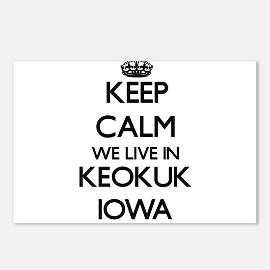 Keep calm we live in Keok Postcards (Package of 8)