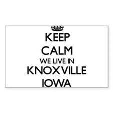 Keep calm we live in Knoxville Iowa Decal