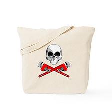 Plumber Skull Tote Bag