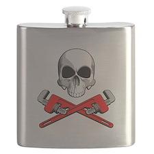 Plumber Skull Flask