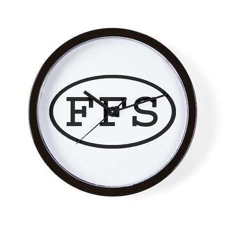FFS Oval Wall Clock