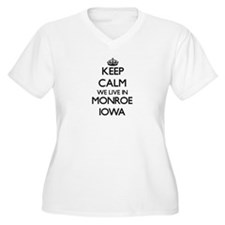 Keep calm we live in Monroe Iowa Plus Size T-Shirt