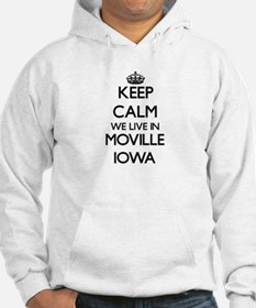Keep calm we live in Moville Iow Hoodie