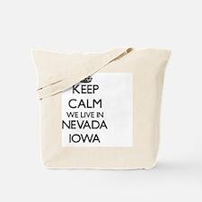 Keep calm we live in Nevada Iowa Tote Bag