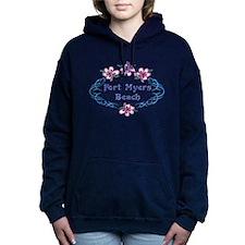 Fort Myers Beach: Flower Women's Hooded Sweatshirt