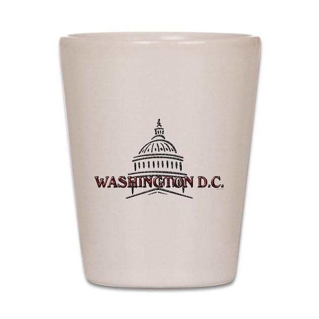 Washington Dc Shooting: Washington DC Shot Glass By ADeWittDesign