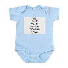 Keep calm we live in Waukee Iowa Body Suit