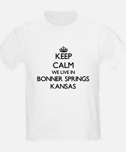 Keep calm we live in Bonner Springs Kansas T-Shirt
