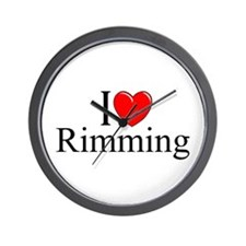 """I Love (Heart) Rimming"" Wall Clock"