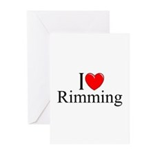 """I Love (Heart) Rimming"" Greeting Cards (Pk of 10)"