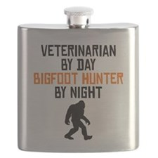 Veterinarian By Day Bigfoot Hunter By Night Flask