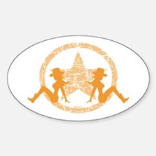 Mud Flap Cowgirls 5 Oval Decal