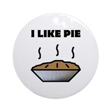 I Like Pie Ornament (Round)