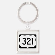 US Route 321 Square Keychain