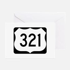 US Route 321 Greeting Cards (Pk of 10)