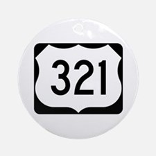 US Route 321 Ornament (Round)