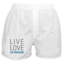Live Love Keyboard Boxer Shorts