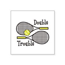 DOUBLE TROUBLE Sticker