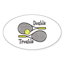 DOUBLE TROUBLE Stickers